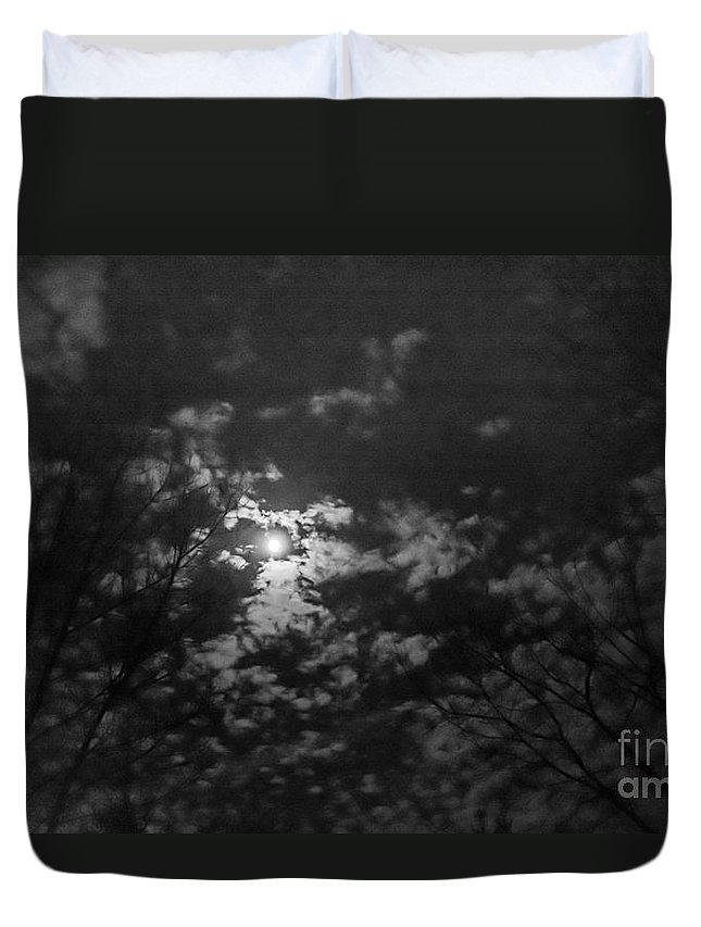 Duvet Cover featuring the photograph Moonlit Sky by Cheryl Baxter