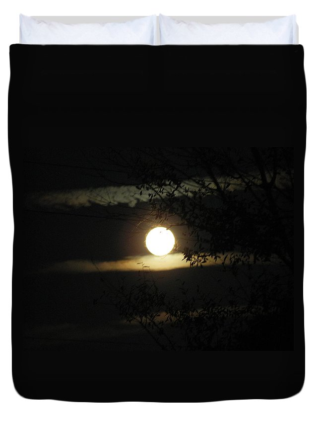 Moonshine Duvet Cover featuring the photograph Moonshine by George Pedro