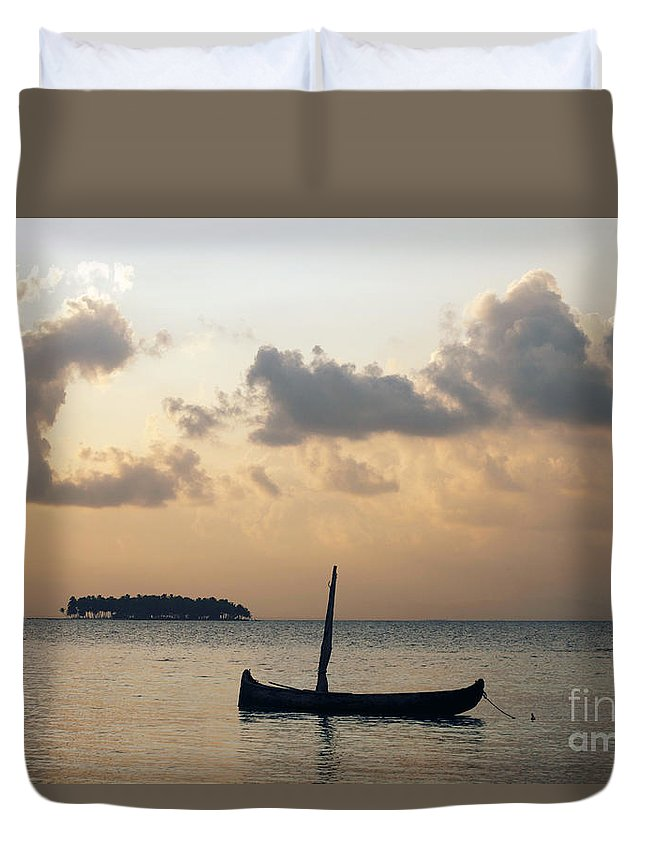 Panama Duvet Cover featuring the photograph Moored For The Night by James Brunker