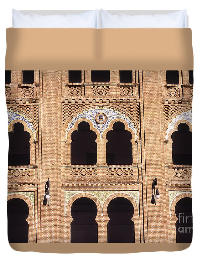 Spain Duvet Cover featuring the photograph Moorish Arches Madrid by James Brunker