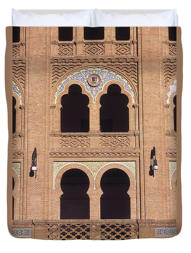 Spain Duvet Cover featuring the photograph Moorish Windows Madrid by James Brunker