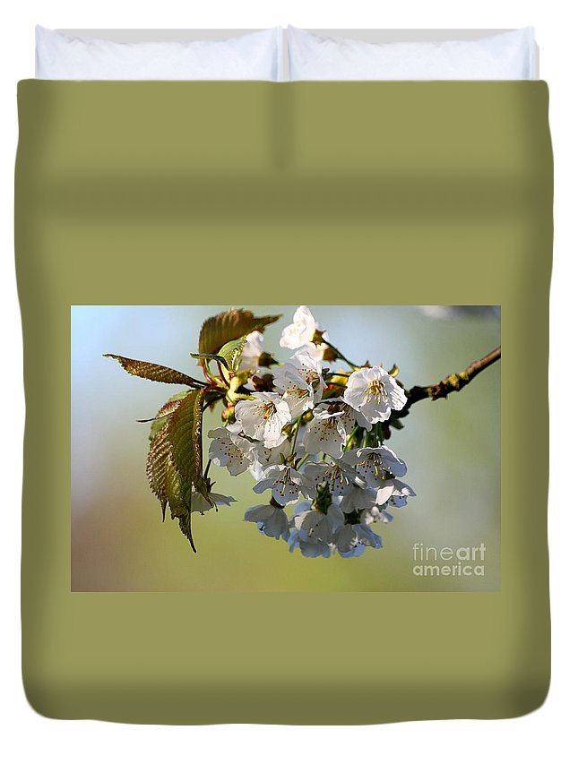 St James Lake Duvet Cover featuring the photograph More Spring Flowers by Jeremy Hayden