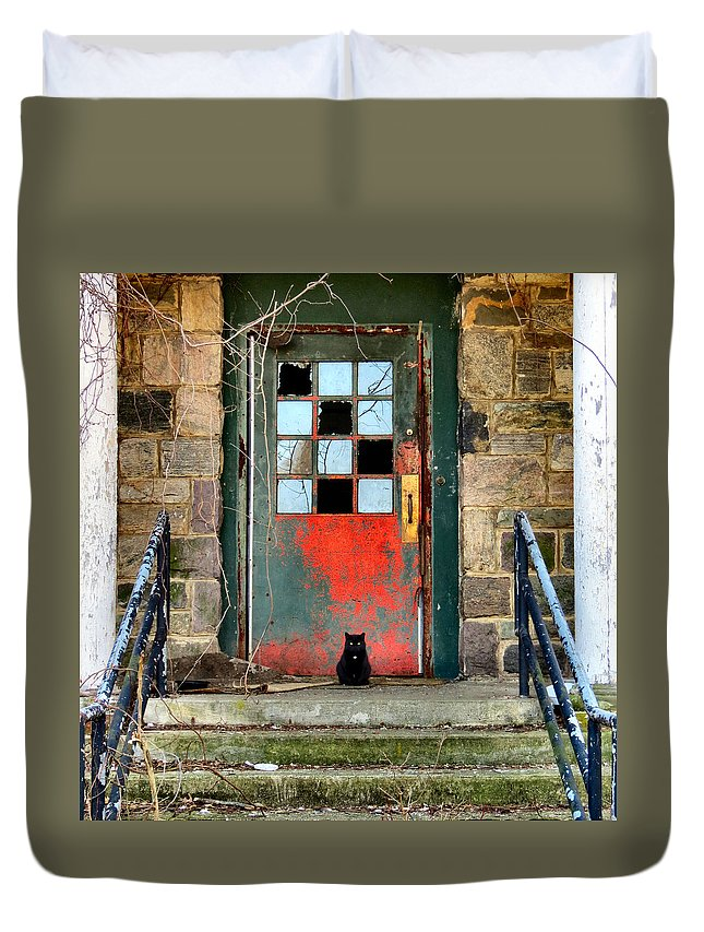 Haunt Duvet Cover featuring the photograph More Than Spirits by Art Dingo