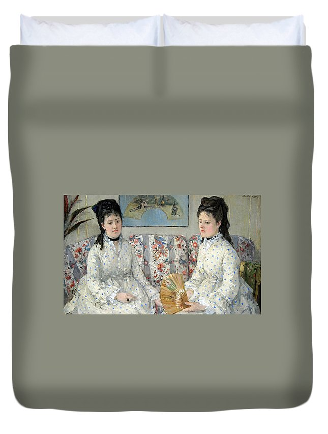 The Duvet Cover featuring the photograph Morisot's The Sisters by Cora Wandel