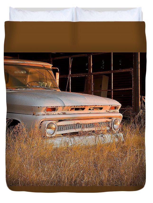 Truck Duvet Cover featuring the photograph Mornin Sunshine by Mark McKinney