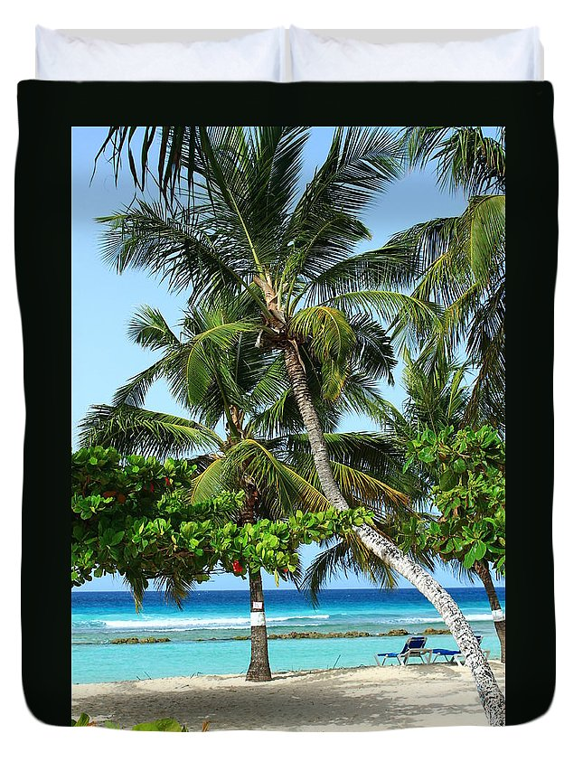 Barbados Duvet Cover featuring the photograph Morning Beauty by Catie Canetti