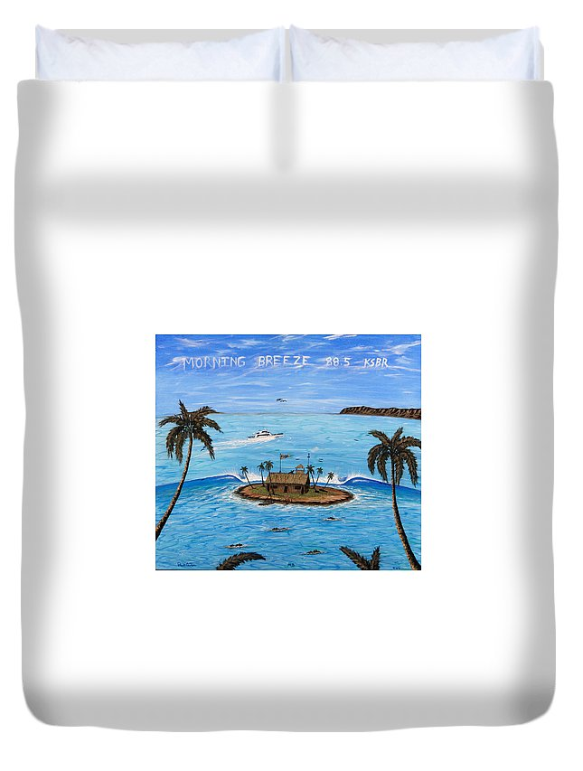 Radiostation Prints Duvet Cover featuring the painting Morning Breeze Cruise by Paul Carter