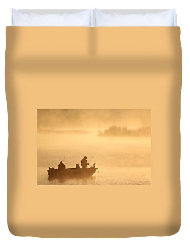 Morning Duvet Cover featuring the photograph Morning Cast 1 by Allan Lovell
