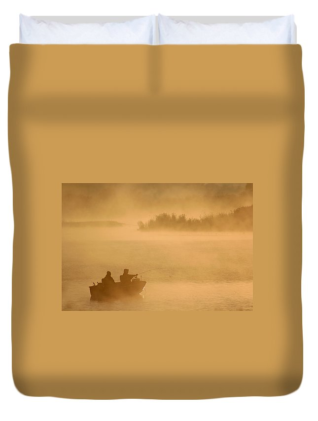 Morning Duvet Cover featuring the photograph Morning Cast 2 by Allan Lovell