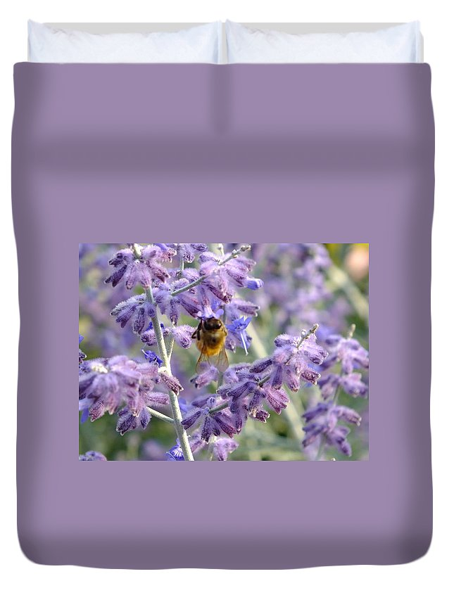 Nature Duvet Cover featuring the photograph Morning Cuppa by Peggy King