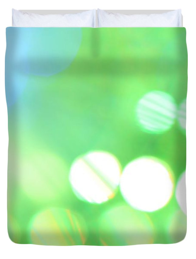 Abstract Duvet Cover featuring the photograph Morning Dew by Dazzle Zazz