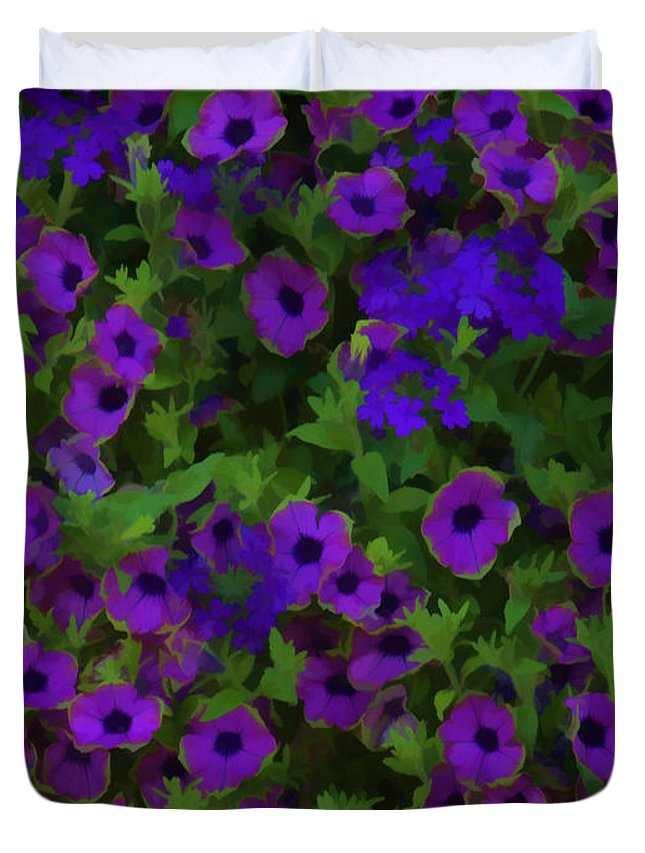 Morning Glories Duvet Cover featuring the photograph Morning Glories Are Beautiful by Thomas Young