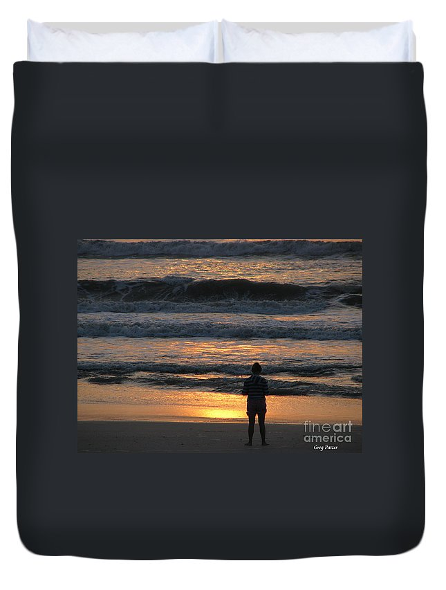 Patzer Duvet Cover featuring the photograph Morning Has Broken by Greg Patzer