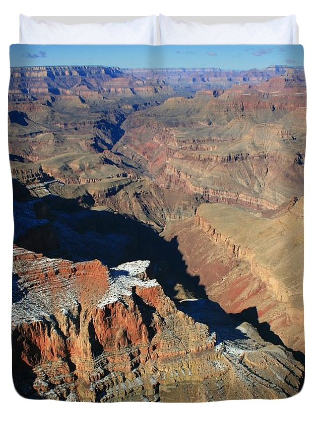Canyon Duvet Cover featuring the photograph Morning In The Canyon by Susan McMenamin