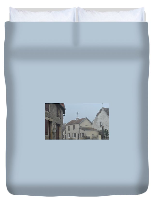 French. France Duvet Cover featuring the photograph Morning Mist by Cheryl Miller