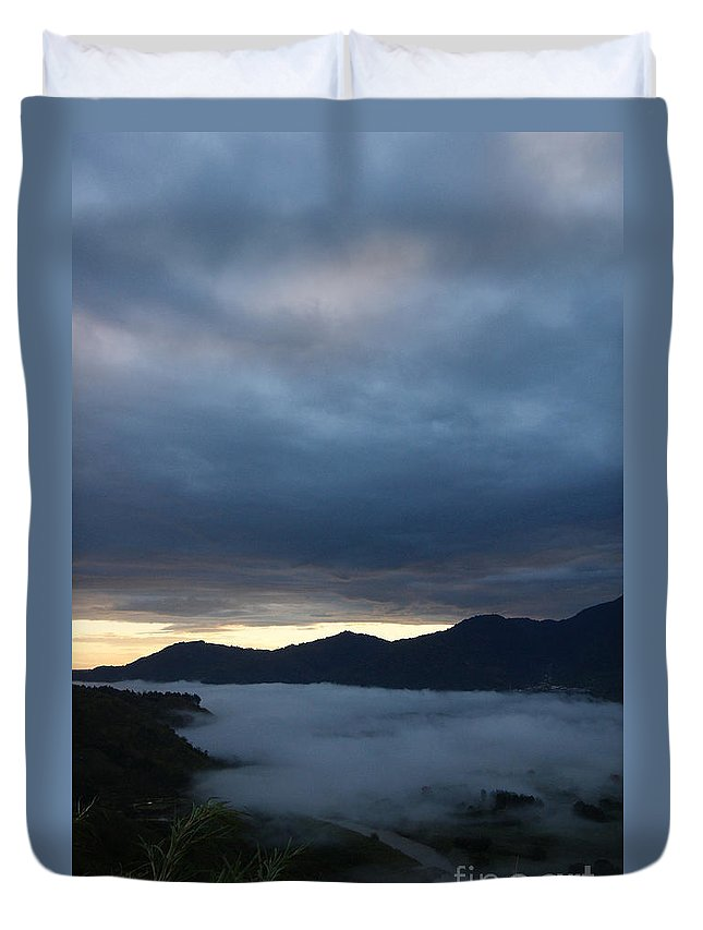 Nature Duvet Cover featuring the photograph Morning Mist by Rudi Prott