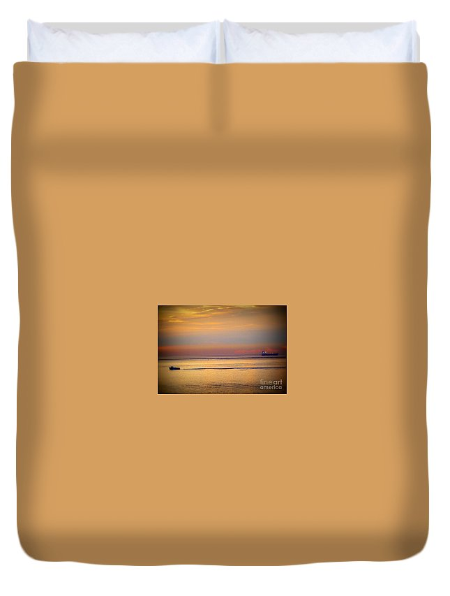 Sunrise Duvet Cover featuring the photograph Morning Pass by Susan Garren