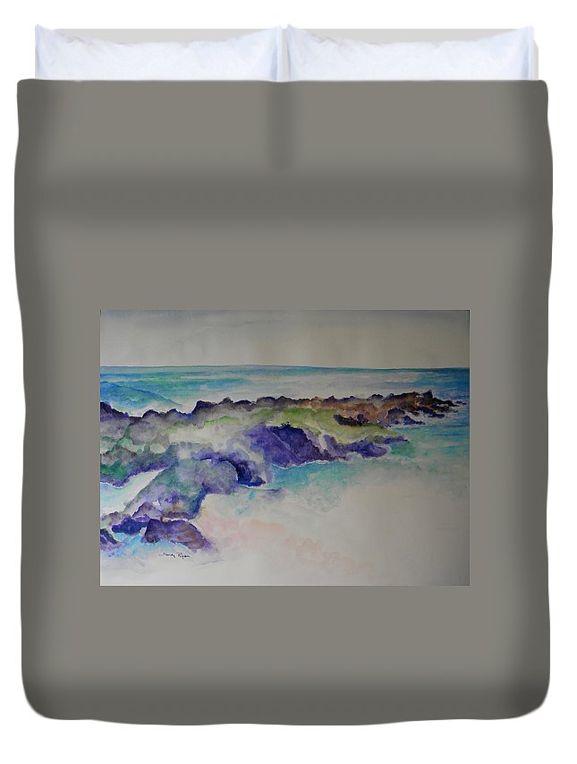 Beach Duvet Cover featuring the painting Morning Surf by Sandy Ryan