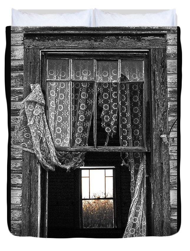 Window Duvet Cover featuring the photograph Morning Threw by The Artist Project