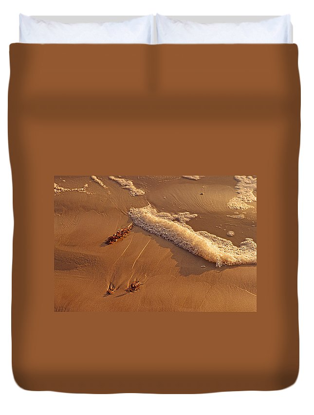 Beach Duvet Cover featuring the photograph Morning Tide II by Joseph Schofield