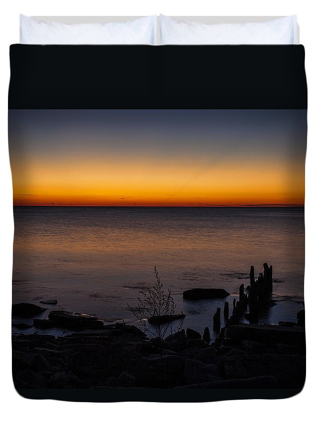 Www.cjschmit.com Duvet Cover featuring the photograph Morning Water Colors by CJ Schmit