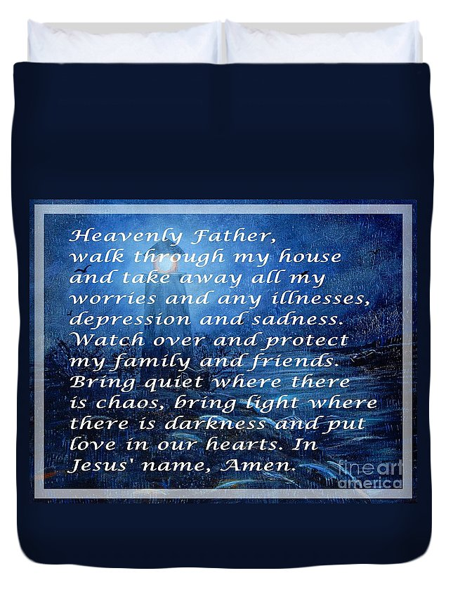 Most Powerful Prayer With Storm At Sea Duvet Cover