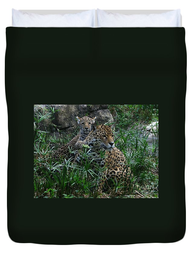 Patzer Duvet Cover featuring the photograph Mother And Child by Greg Patzer