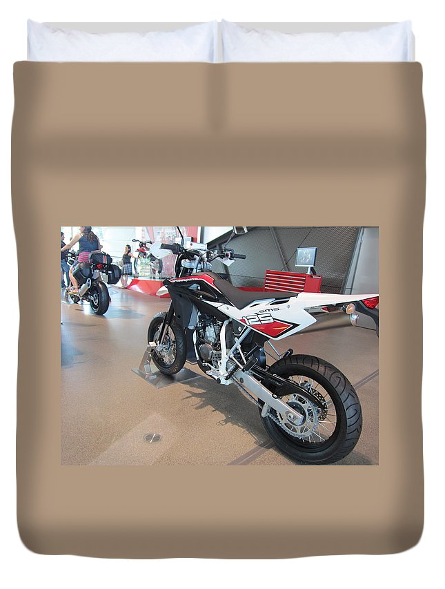 Motorbike Duvet Cover featuring the photograph Motorbikes 1 by Pema Hou