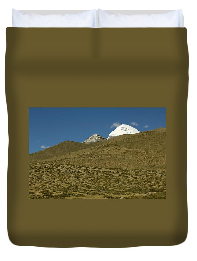 Chinese Culture Duvet Cover featuring the photograph Mount Kailash by Tanukiphoto