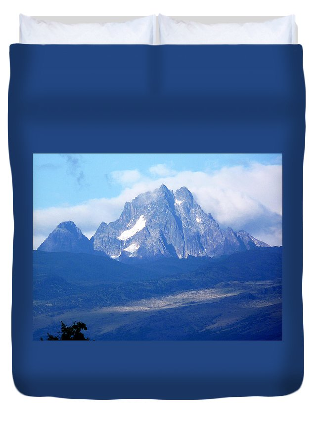 Mount Kenya Duvet Cover featuring the photograph Mount Kenya by Tony Murtagh