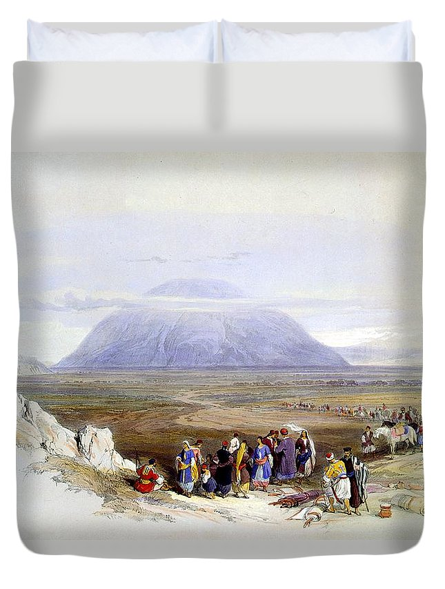 Mount Tabor Duvet Cover featuring the photograph Mount Tabor by Munir Alawi