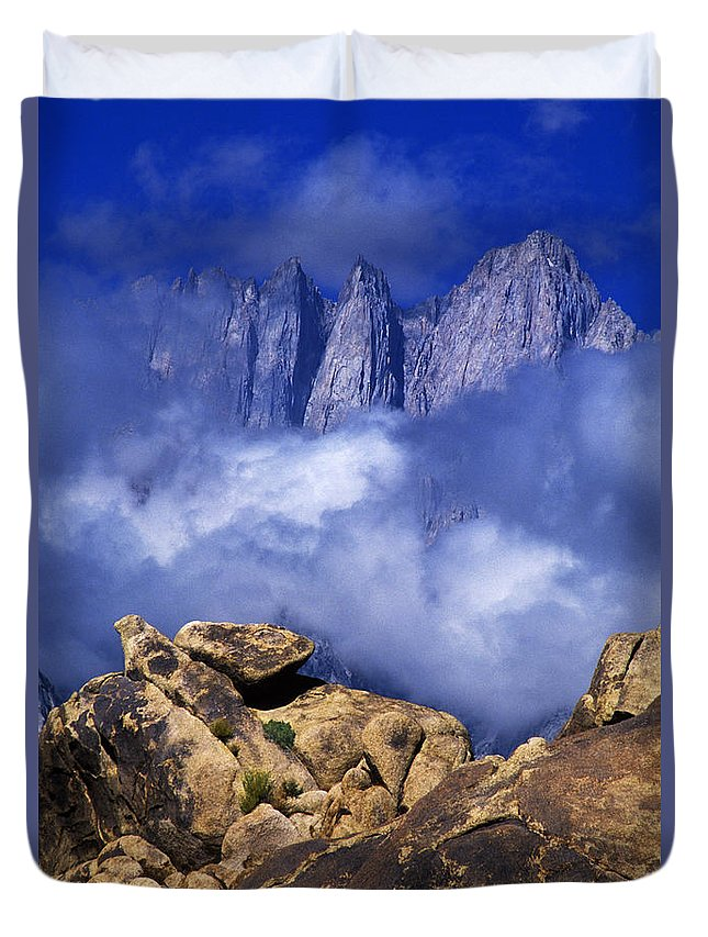 Dave Welling Duvet Cover featuring the photograph Mount Whitney Alabama Hills California by Dave Welling