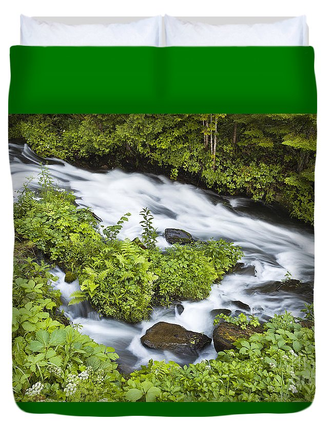 Summer Duvet Cover featuring the photograph Mountain Stream by Alan L Graham