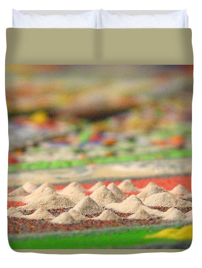 Mandala Duvet Cover featuring the photograph Mountains Of The Mind by Laura Almada