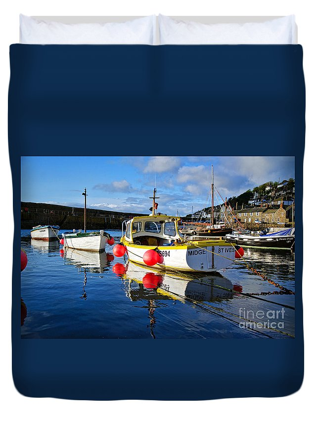 Mousehole Duvet Cover featuring the photograph Mousehole Harbour by Susie Peek