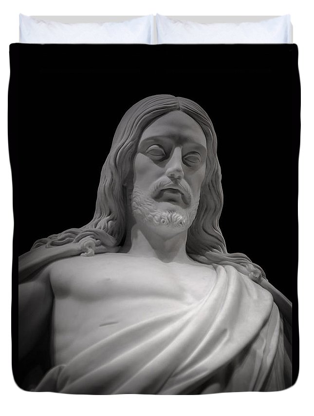 Lds Duvet Cover featuring the photograph Moved With Compassion by Greg Collins