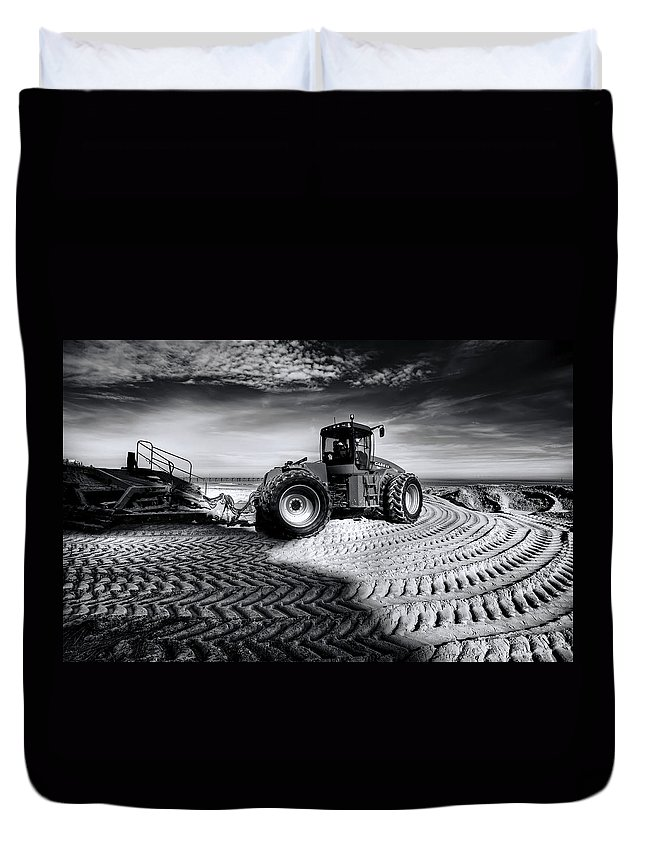Dredge Duvet Cover featuring the photograph Moving Heaven And Earth by Wayne Sherriff