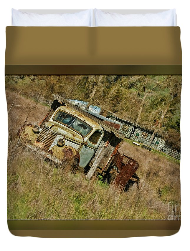 Truck Duvet Cover featuring the photograph Mr Greenjeans Truck by Blake Richards