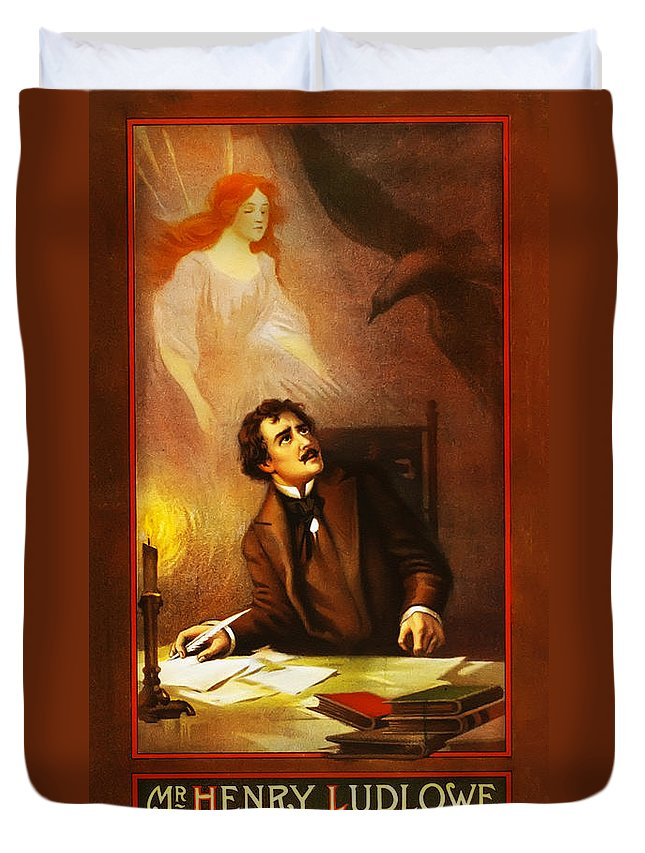 Mr Duvet Cover featuring the photograph Mr Henry Ludlowe In The Raven by Bill Cannon