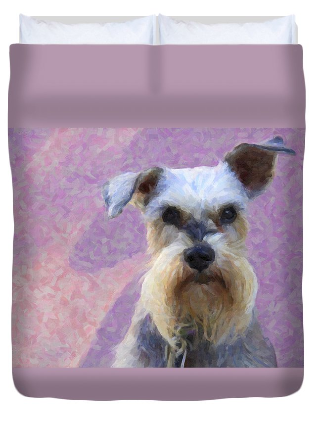 Dog Duvet Cover featuring the photograph Mr. Mutt by Alice Gipson