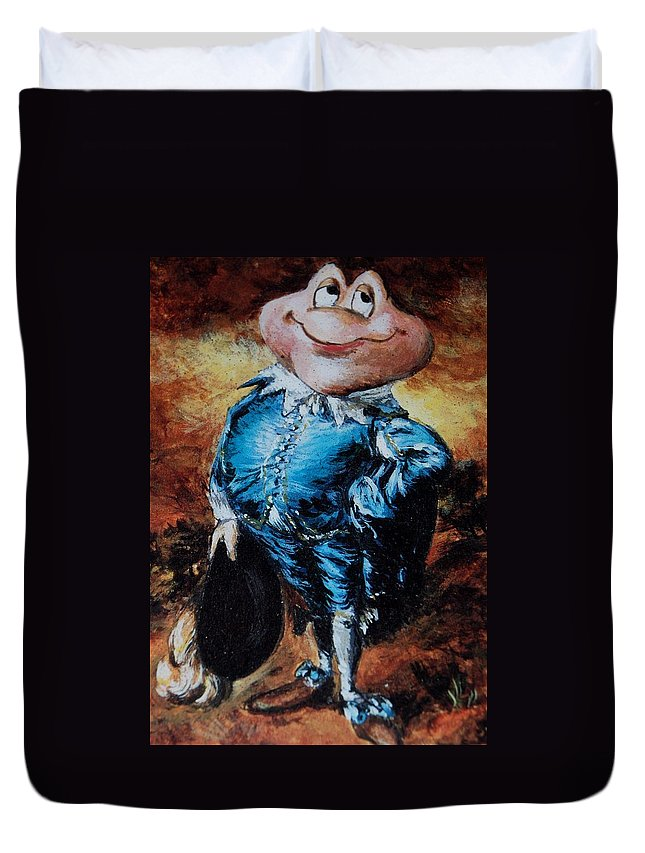 Mr Toad Duvet Cover featuring the photograph Mr Toad by Rob Hans