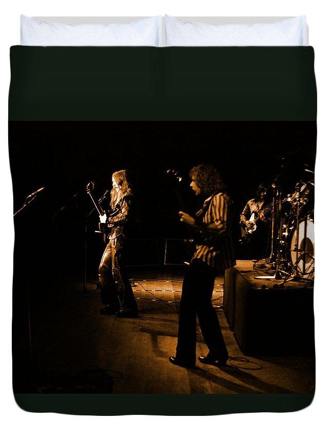 Mahogany Rush Duvet Cover featuring the photograph Mrush #9 In Amber by Ben Upham