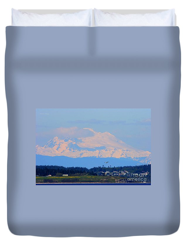 Washington State Duvet Cover featuring the photograph Mt. Baker Of Pacific Northwest by Tap On Photo