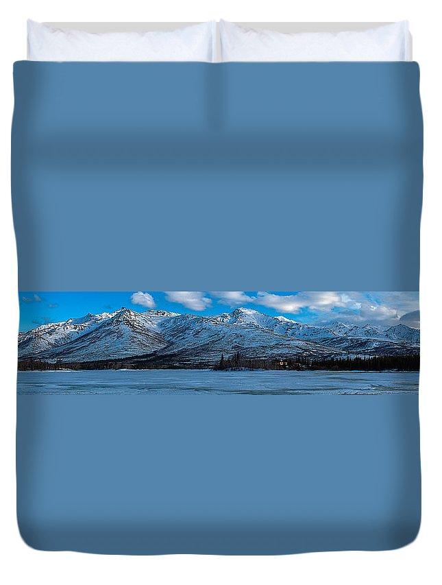 Mountain Duvet Cover featuring the photograph Mt. Healy by Thomas Sellberg