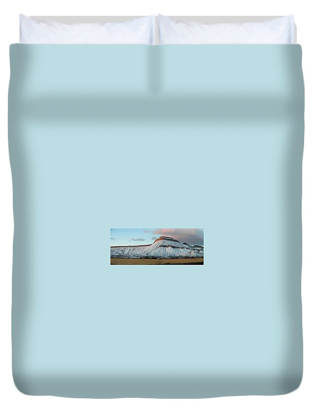 Mountains Duvet Cover featuring the photograph Mt.garfield Winter by Gary Emilio Cavalieri