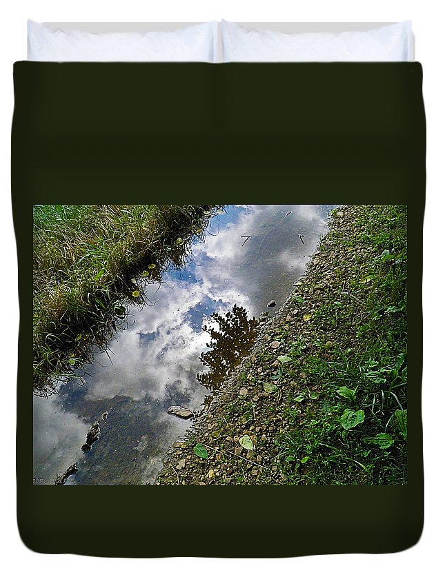 Mudhole Duvet Cover featuring the photograph Mudhole Mirror 2 by Nick Kirby