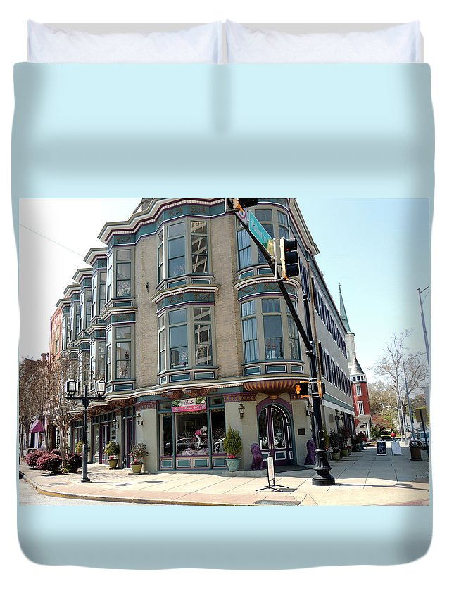 Mulberry Street Duvet Cover featuring the photograph Mulberry Street by Kim Pate