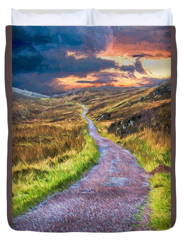 Scotland Duvet Cover featuring the digital art Mull Of Kintyre by Roy Pedersen