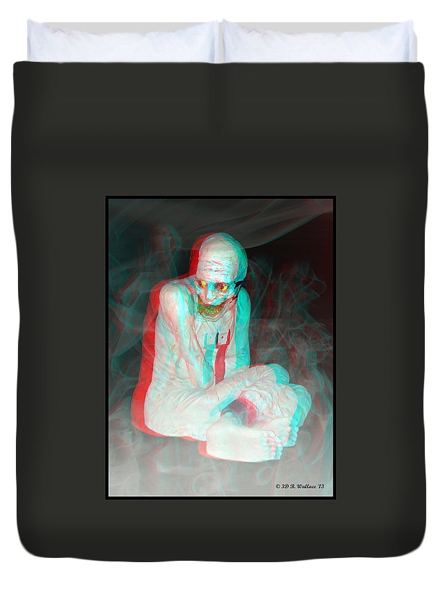 3d Duvet Cover featuring the photograph Mummy Dearest - Use Red-cyan Filtered 3d Glasses by Brian Wallace