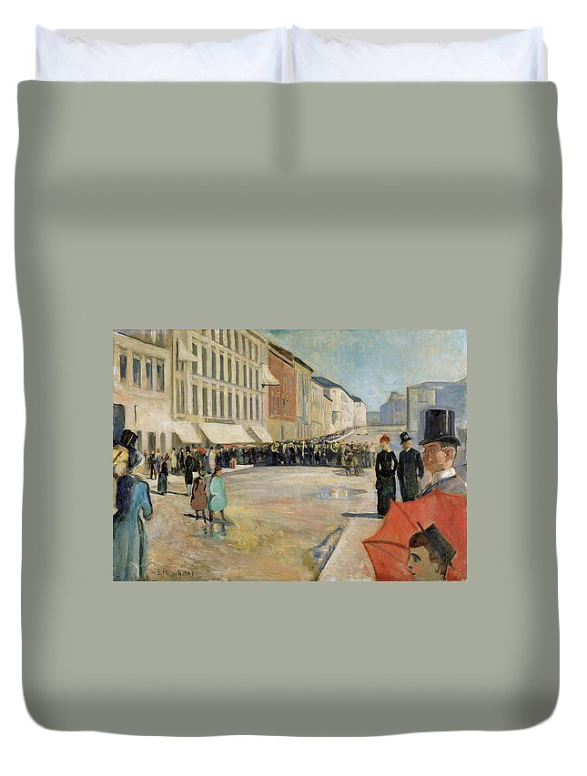 1889 Duvet Cover featuring the painting Munch Musik, 1889 by Granger